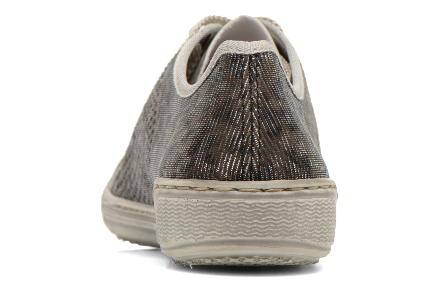 Trainers Rieker Speed 42417 Silver view from the right