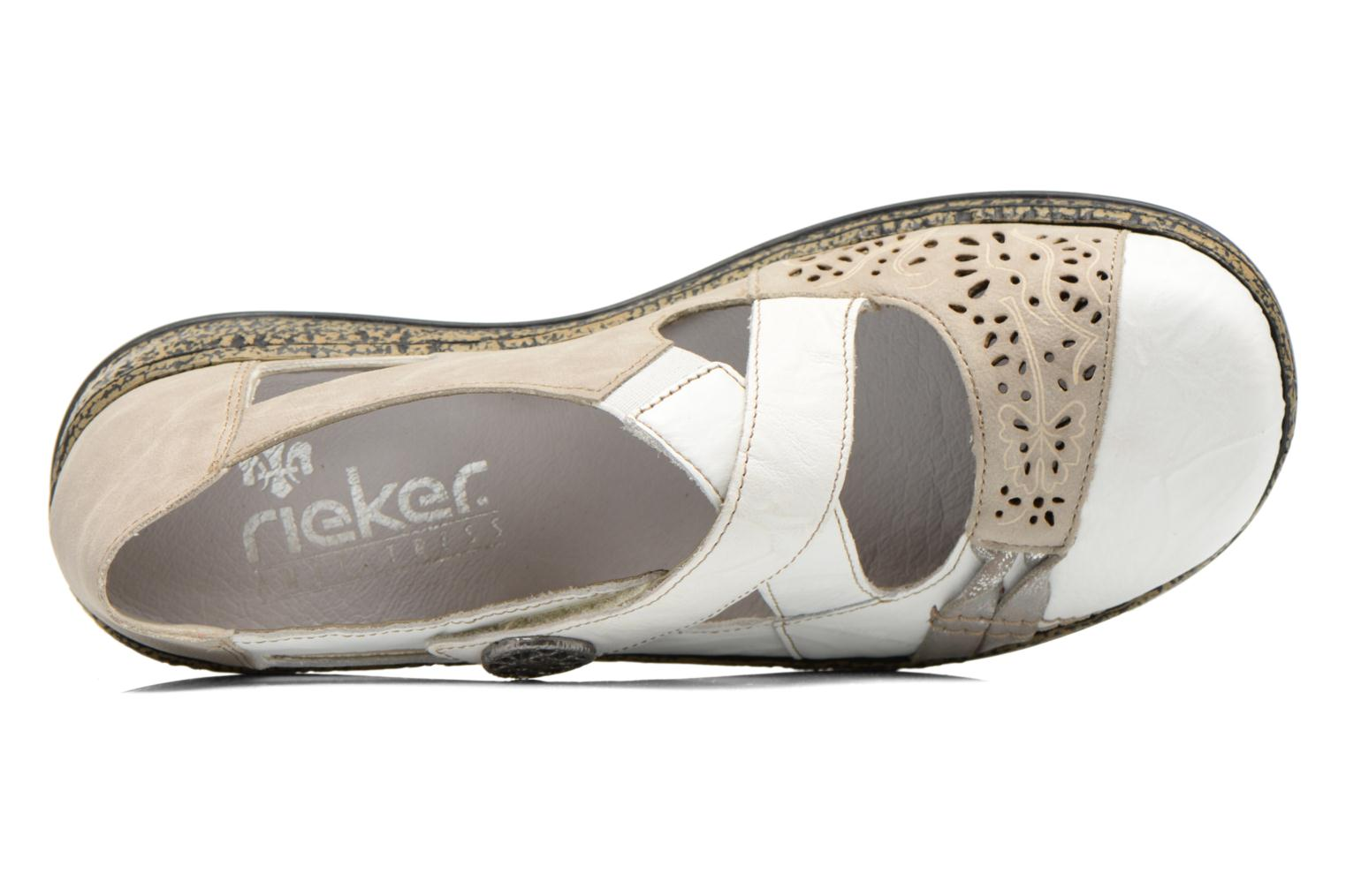 Ballerina's Rieker Kriss 463H7 Wit links