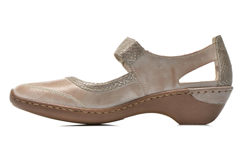 High heels Rieker Princess 48398 Grey front view