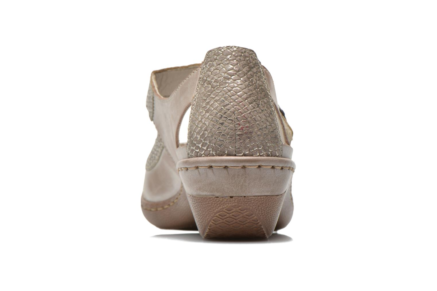 High heels Rieker Princess 48398 Grey view from the right