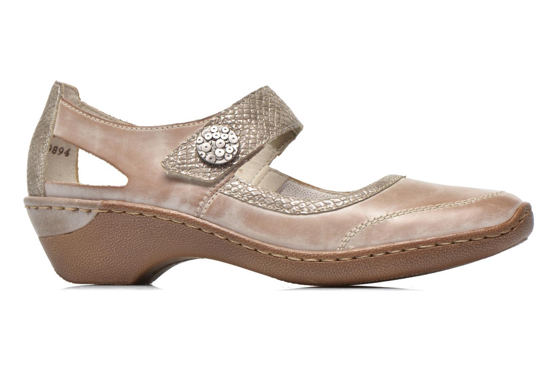High heels Rieker Princess 48398 Grey back view
