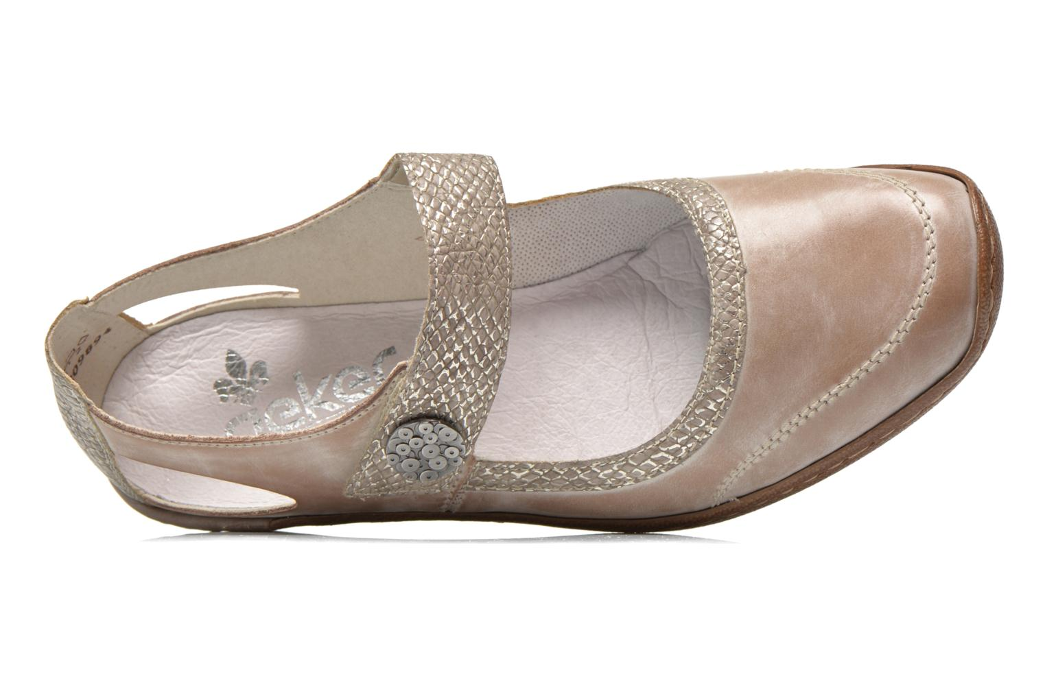 High heels Rieker Princess 48398 Grey view from the left