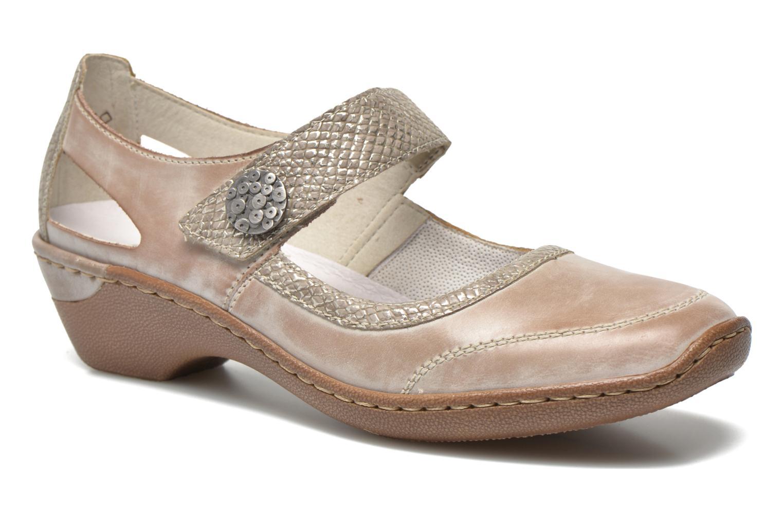 High heels Rieker Princess 48398 Grey detailed view/ Pair view