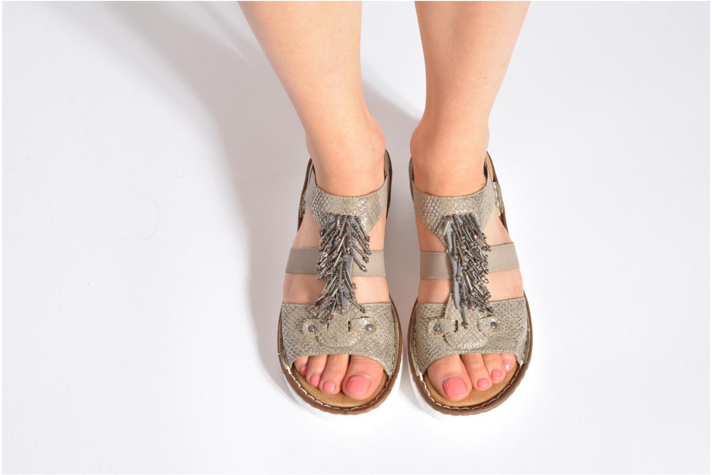 Sandales et nu-pieds Rieker Chop 60062 Or et bronze vue bas / vue portée sac