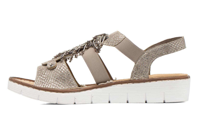 Sandales et nu-pieds Rieker Chop 60062 Or et bronze vue face