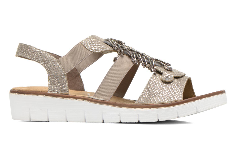 Sandales et nu-pieds Rieker Chop 60062 Or et bronze vue derrière