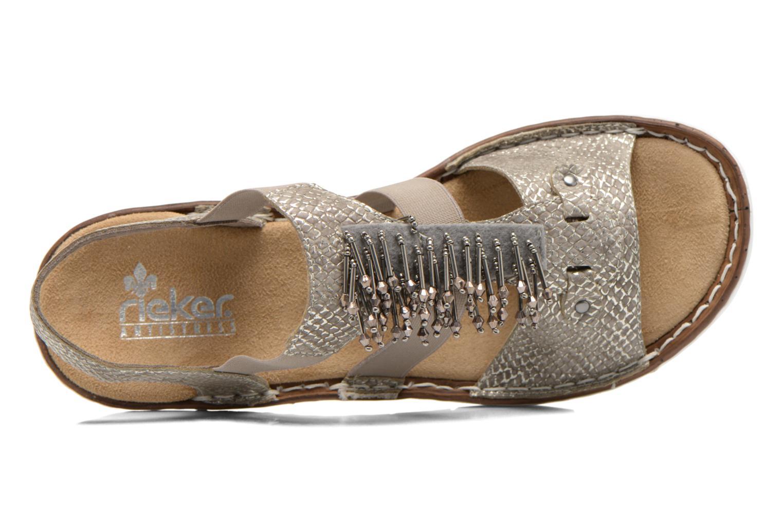 Sandales et nu-pieds Rieker Chop 60062 Or et bronze vue gauche