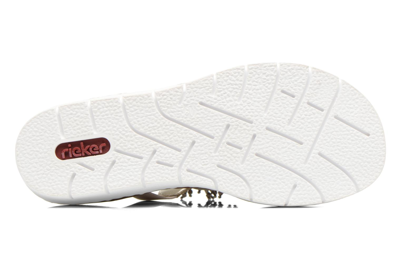 Sandales et nu-pieds Rieker Chop 60062 Or et bronze vue haut