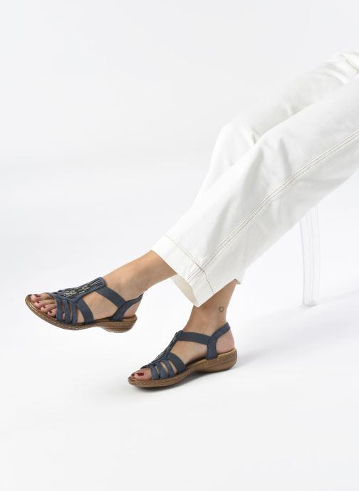 Sandales et nu-pieds Rieker Amty Bleu vue bas / vue portée sac