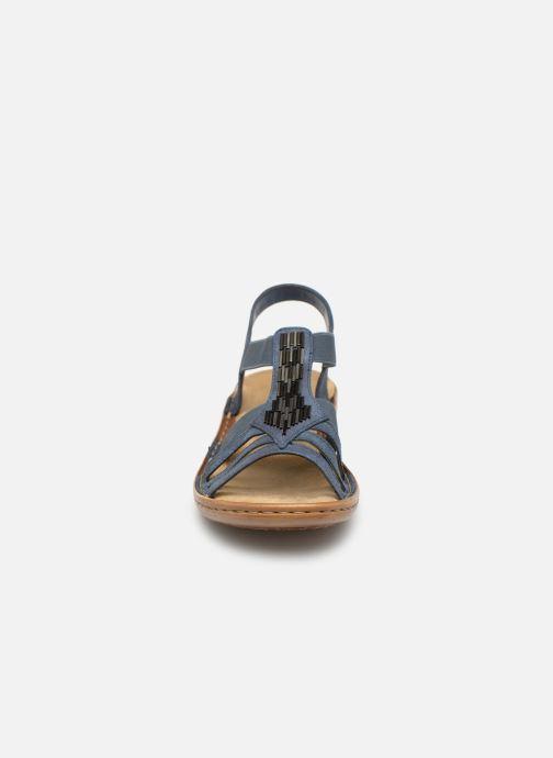 Sandales et nu-pieds Rieker Amty 60800 Bleu vue portées chaussures