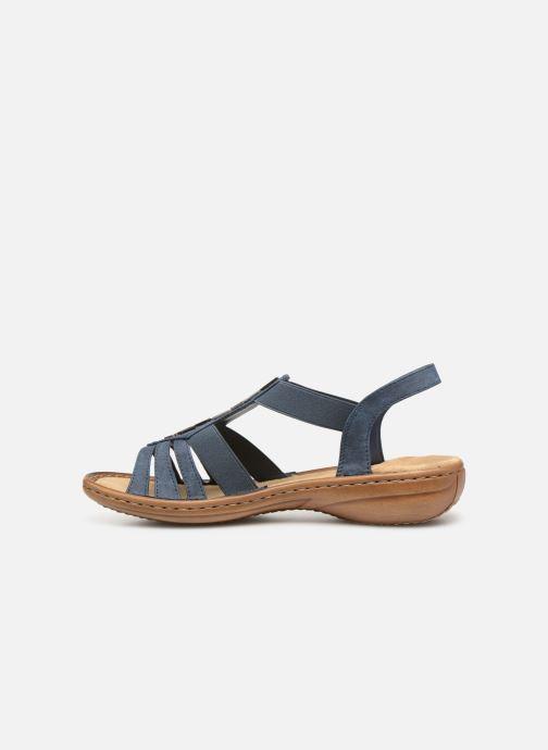 Sandales et nu-pieds Rieker Amty Bleu vue face