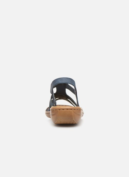 Sandali e scarpe aperte Rieker Amty 60800 Azzurro immagine destra