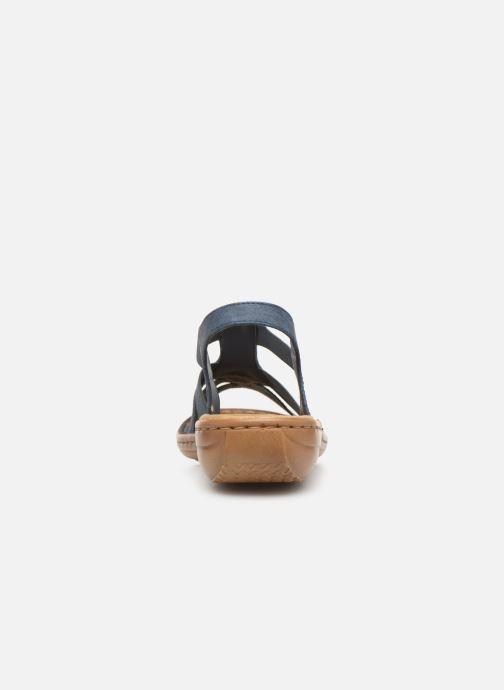 Sandales et nu-pieds Rieker Amty Bleu vue droite
