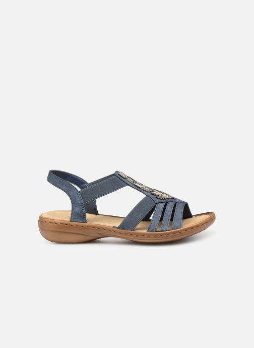 Sandales et nu-pieds Rieker Amty Bleu vue derrière