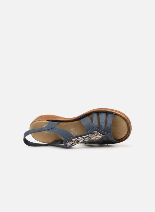 Sandales et nu-pieds Rieker Amty Bleu vue gauche