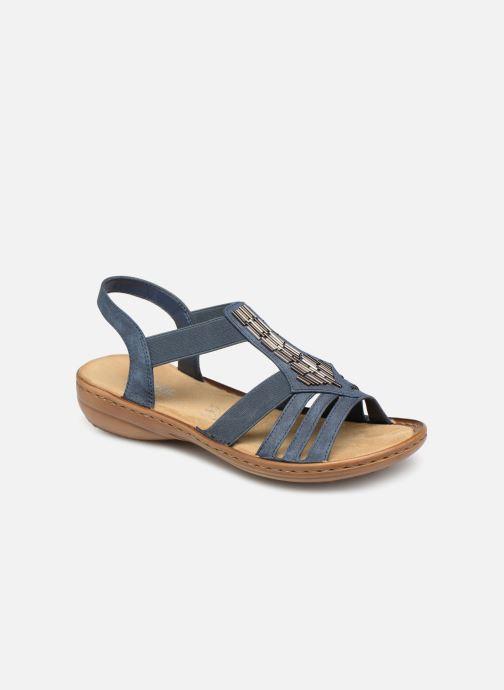 Sandales et nu-pieds Rieker Amty 60800 Bleu vue détail/paire