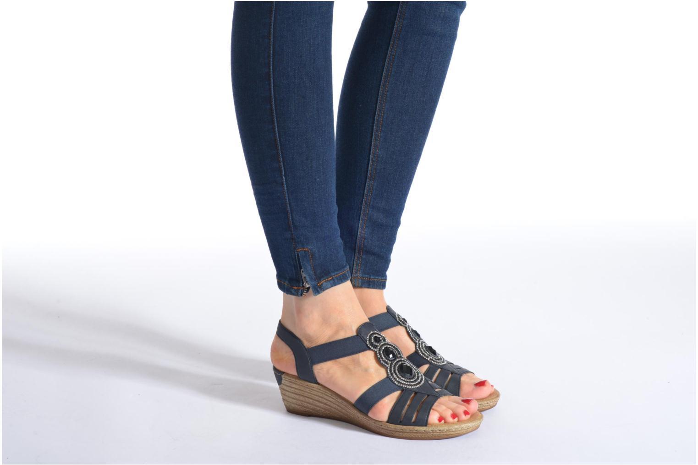 Sandales et nu-pieds Rieker Bijou 62459 Gris vue bas / vue portée sac