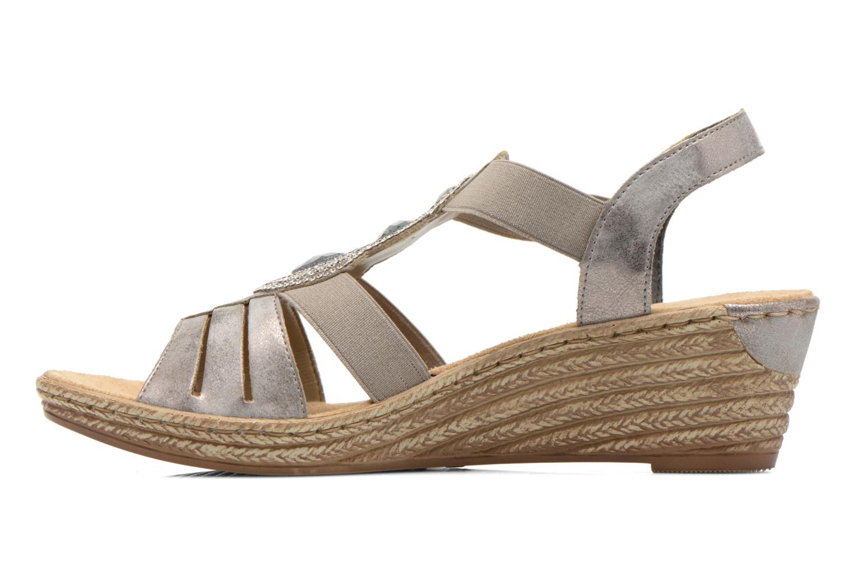 Sandales et nu-pieds Rieker Bijou 62459 Gris vue face