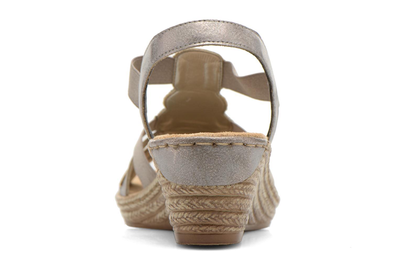 Sandales et nu-pieds Rieker Bijou 62459 Gris vue droite