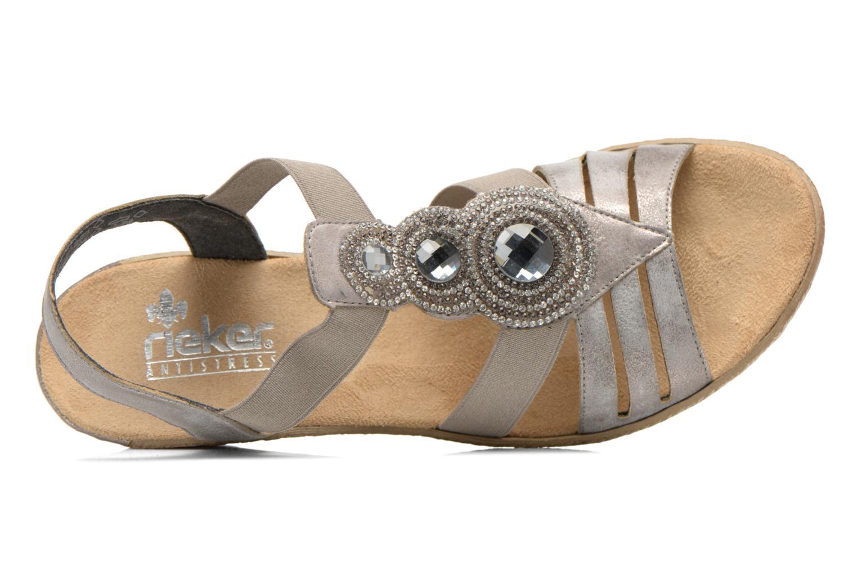 Sandales et nu-pieds Rieker Bijou 62459 Gris vue gauche