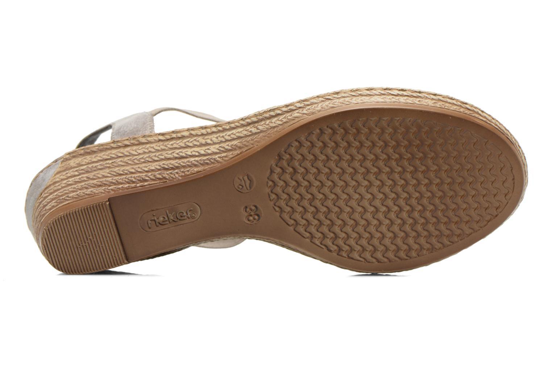 Sandales et nu-pieds Rieker Bijou 62459 Gris vue haut