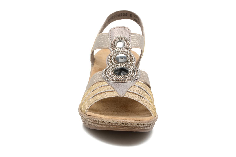 Sandales et nu-pieds Rieker Bijou 62459 Gris vue portées chaussures