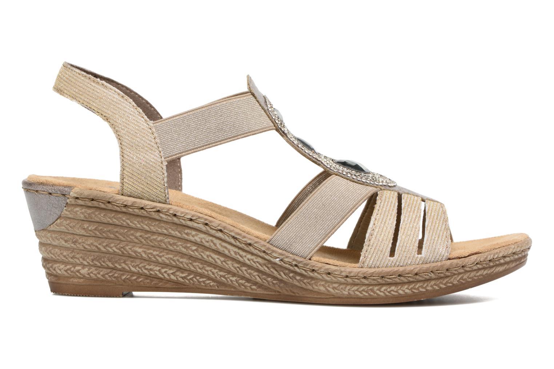 Sandales et nu-pieds Rieker Bijou 62459 Gris vue derrière