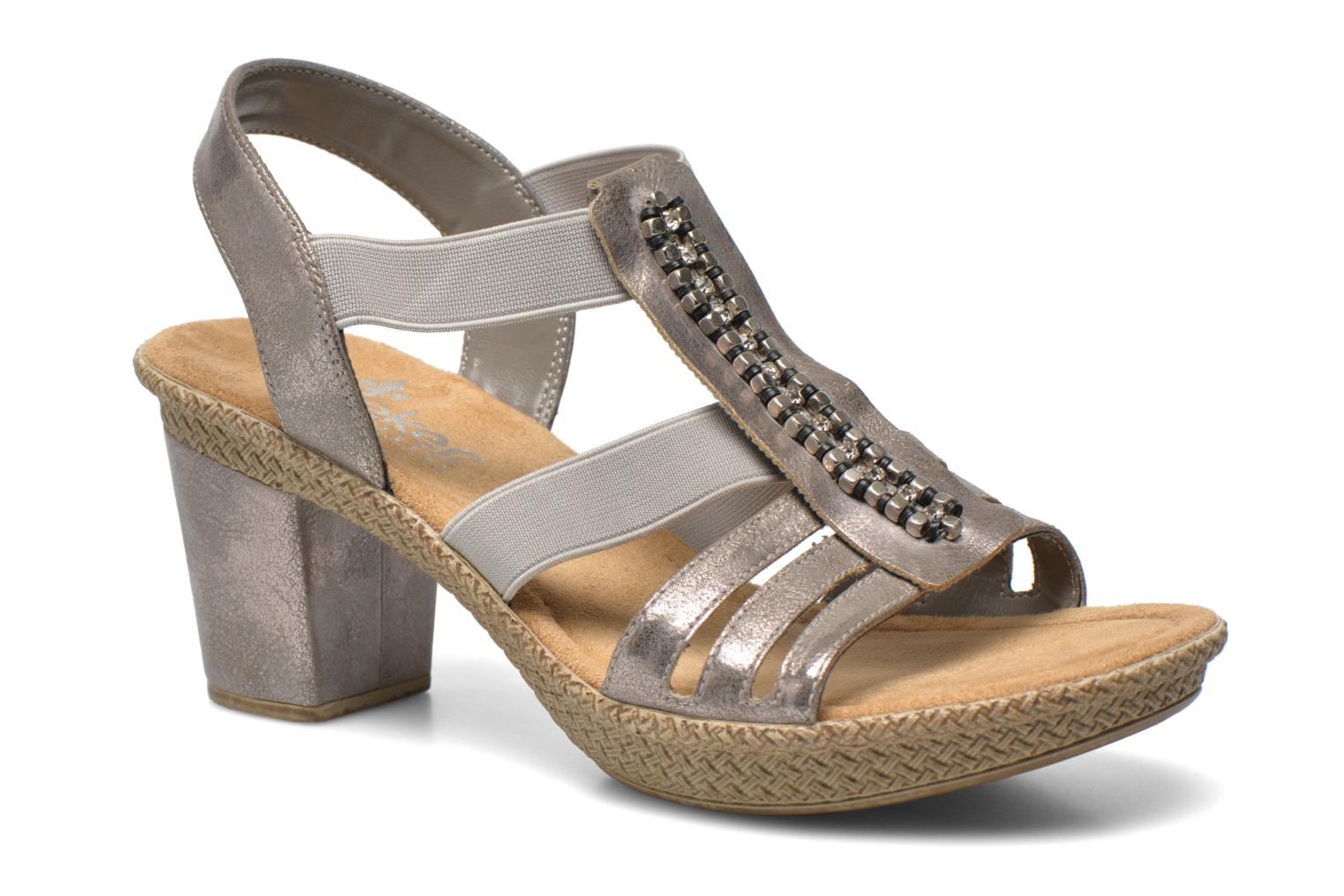 Sandals Rieker Party 66584 Grey detailed view/ Pair view