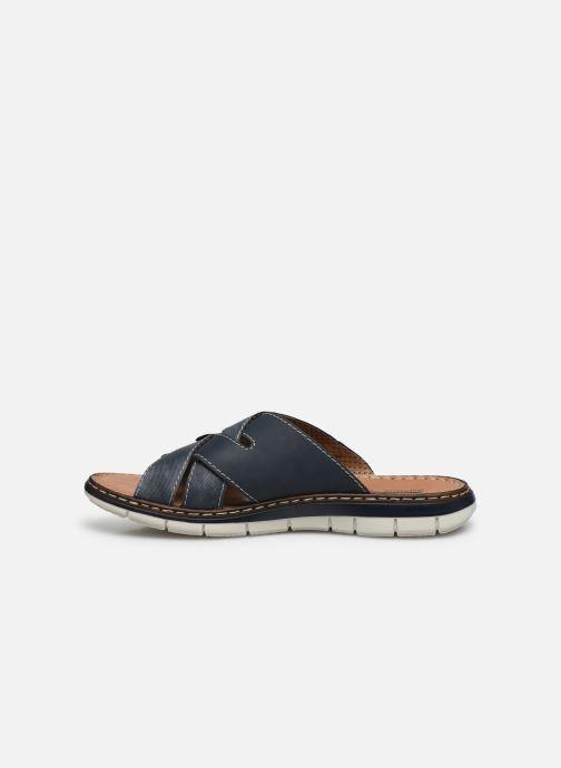 Sandales et nu-pieds Rieker Tyr Bleu vue face