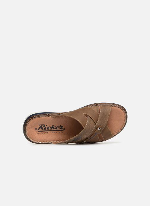 Sandales et nu-pieds Rieker Tyr 25199 Marron vue gauche