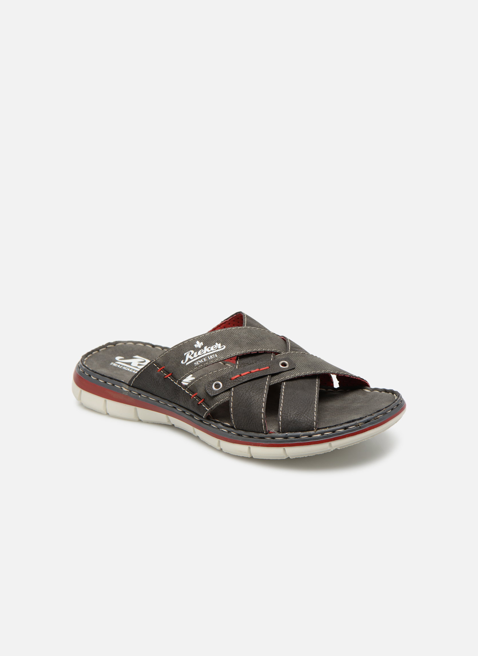 Sandals Rieker Tyr 25199 Grey detailed view/ Pair view