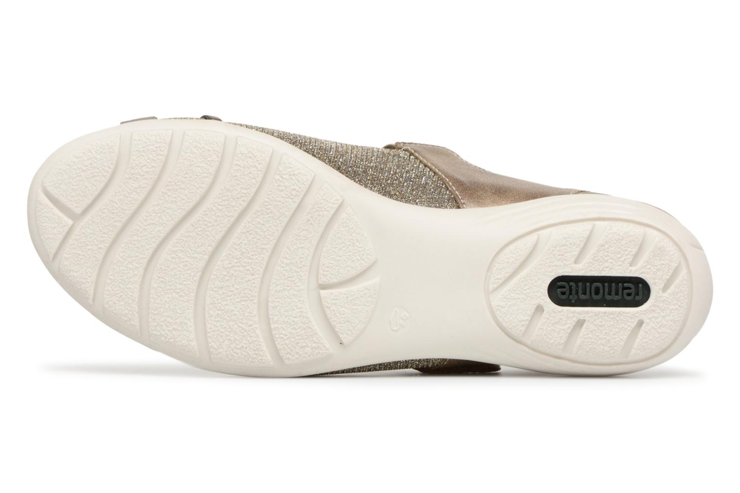 Ballet pumps Remonte Teen D4627 Bronze and Gold view from above
