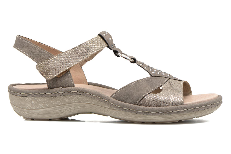 Sandales et nu-pieds Remonte Miny D7668 Gris vue derrière