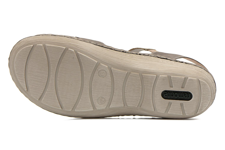 Sandales et nu-pieds Remonte Miny D7668 Gris vue haut