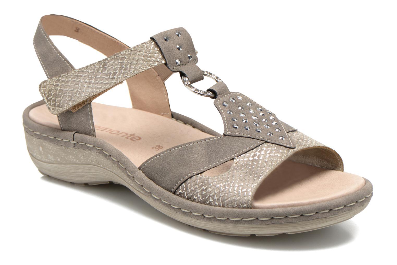 Sandales et nu-pieds Remonte Miny D7668 Gris vue détail/paire