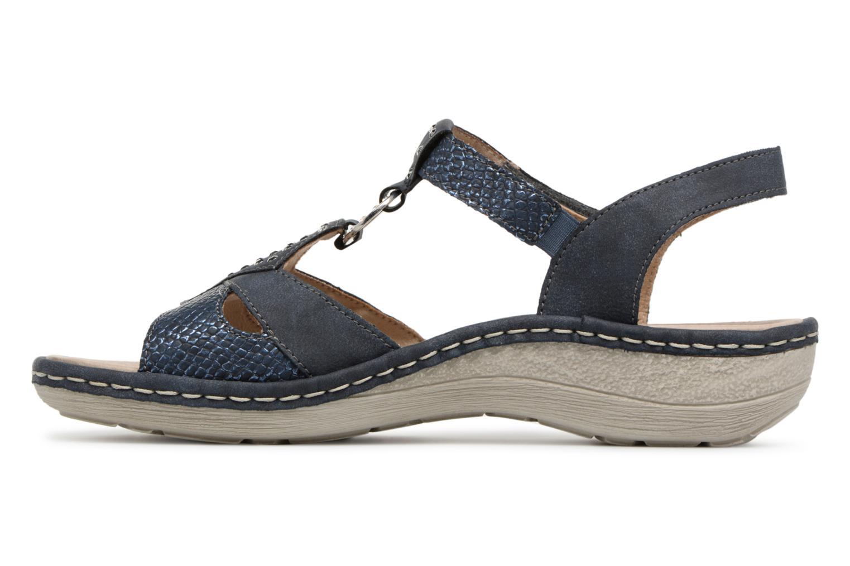 Sandals Remonte Miny D7668 Blue front view