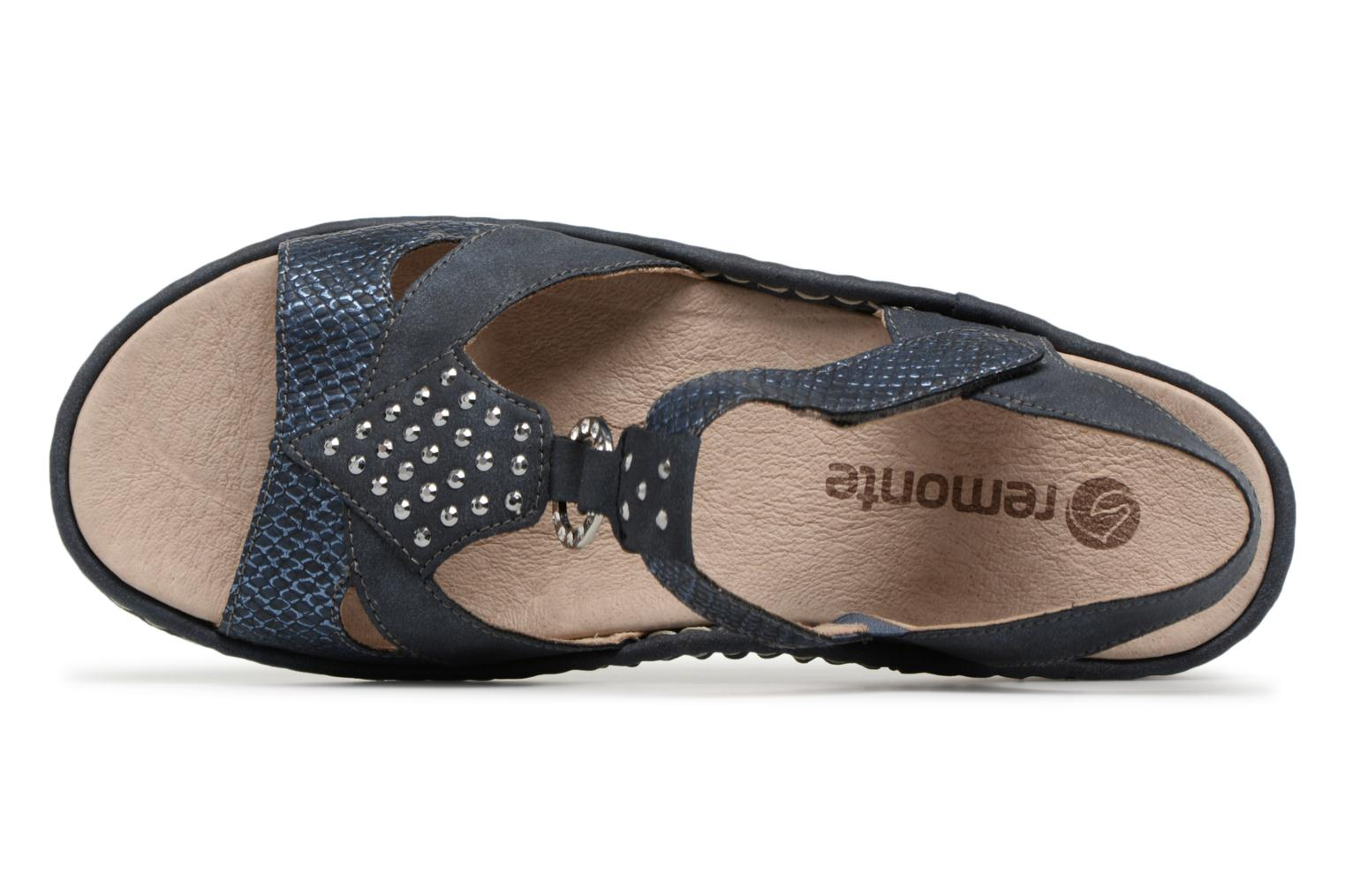Sandals Remonte Miny D7668 Blue view from the left