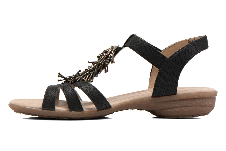 Sandals Remonte Hype R3645 Black front view