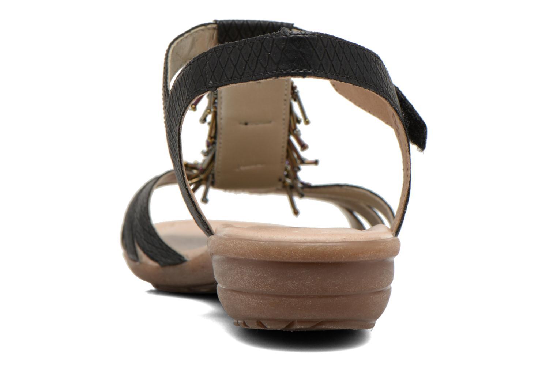Sandales et nu-pieds Remonte Hype R3645 Noir vue droite