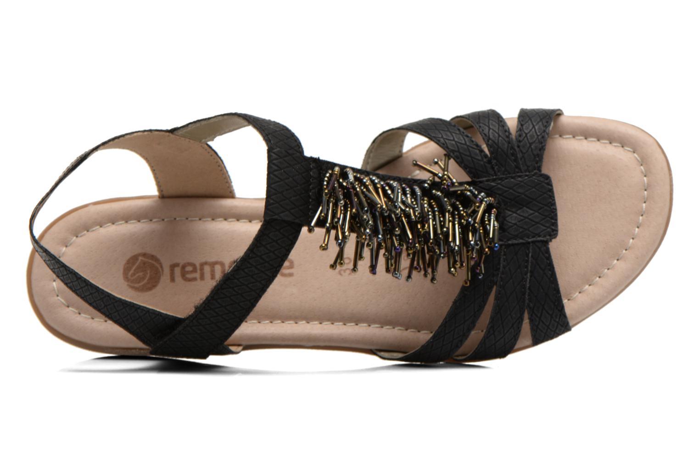 Sandales et nu-pieds Remonte Hype R3645 Noir vue gauche