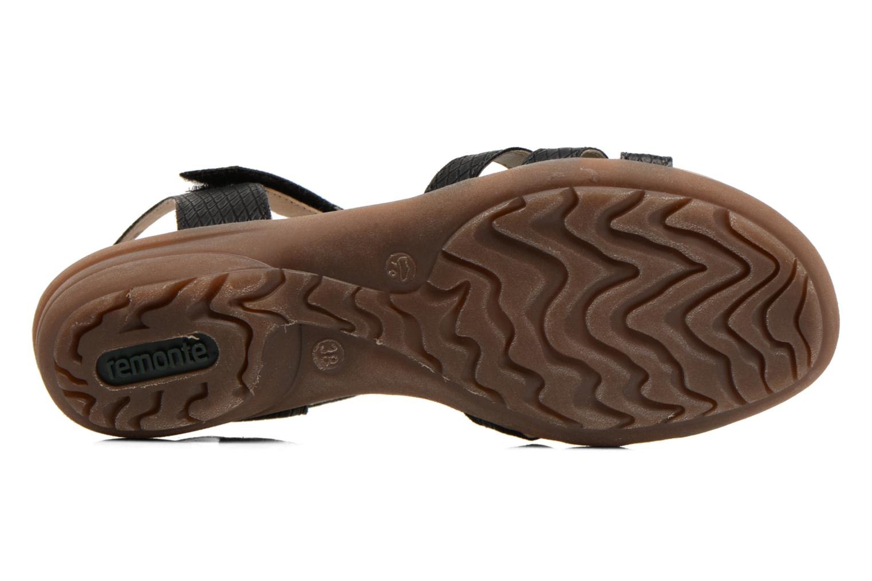 Sandales et nu-pieds Remonte Hype R3645 Noir vue haut