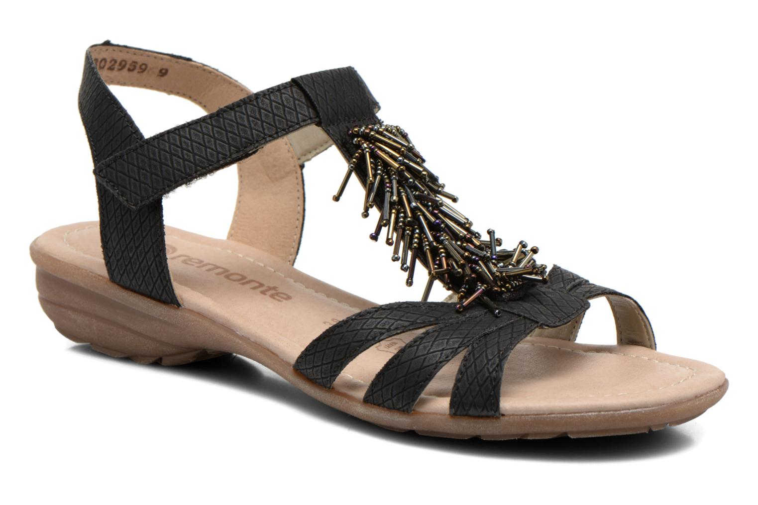 Sandals Remonte Hype R3645 Black detailed view/ Pair view