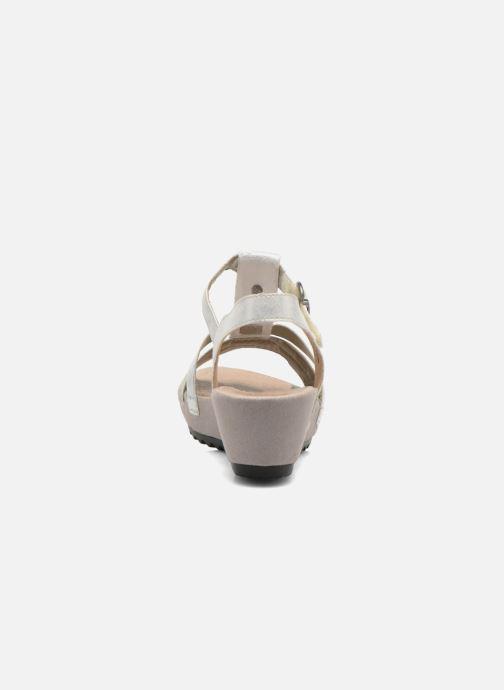 Sandalen Remonte Lou R5757 grau ansicht von rechts