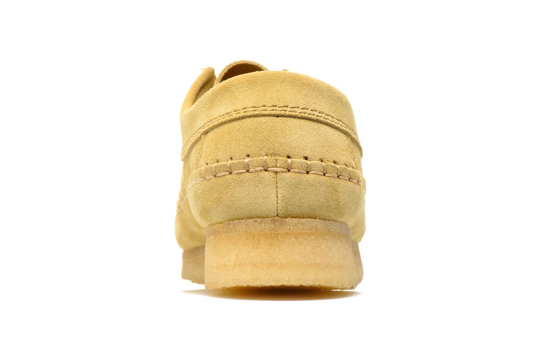 Scarpe con lacci Clarks Originals Weaver M Beige immagine destra