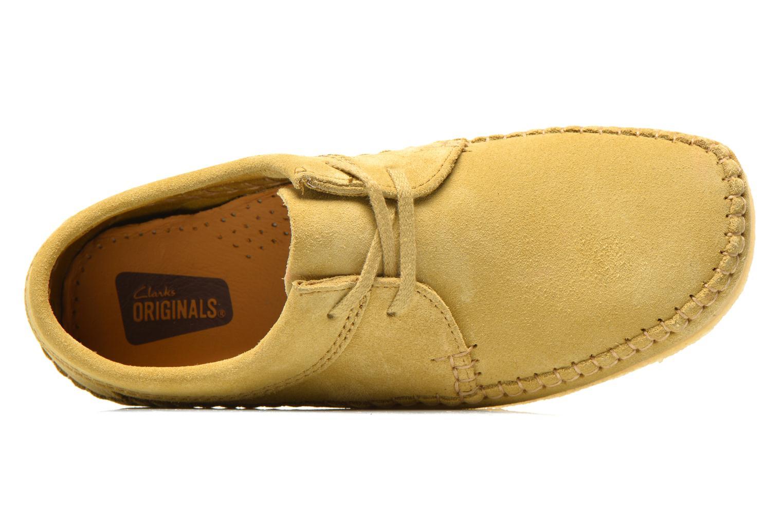 Scarpe con lacci Clarks Originals Weaver M Beige immagine sinistra