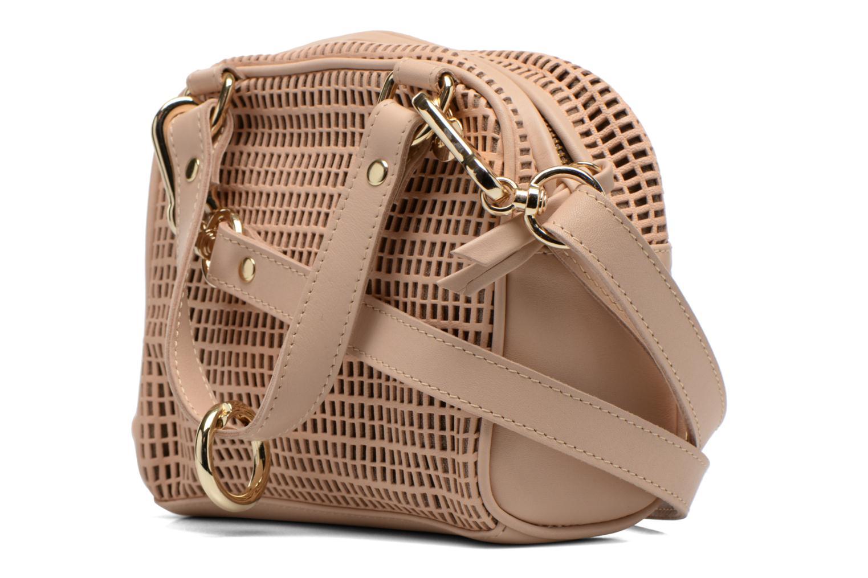 Handtaschen Craie Micro Casier beige ansicht von rechts