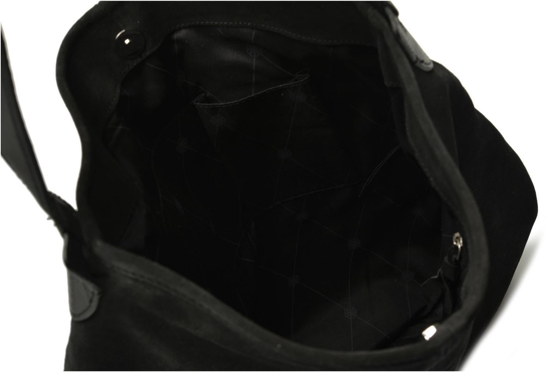 Handbags Pieces Tabatha suede Obo bag Black back view