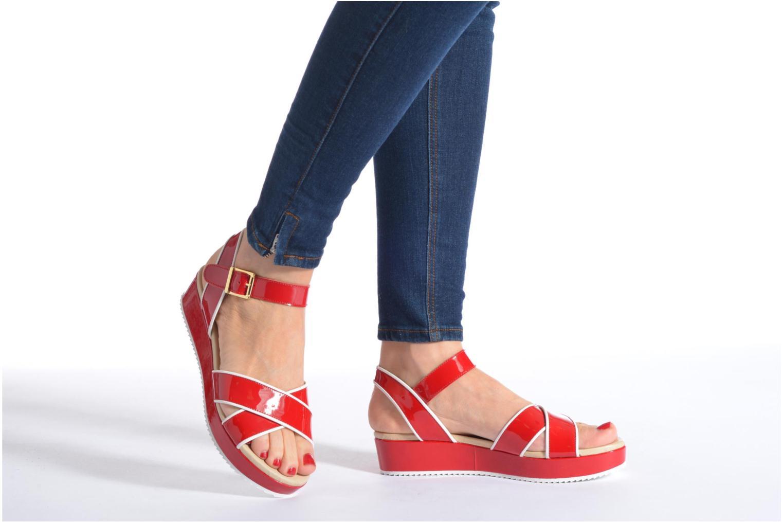 Sandales et nu-pieds Georgia Rose Aniki Bleu vue bas / vue portée sac