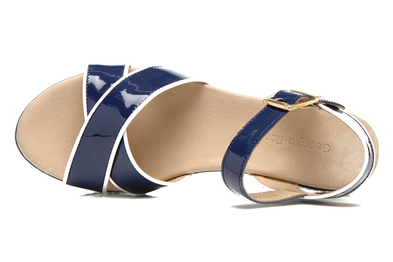 Sandales et nu-pieds Georgia Rose Aniki Bleu vue gauche