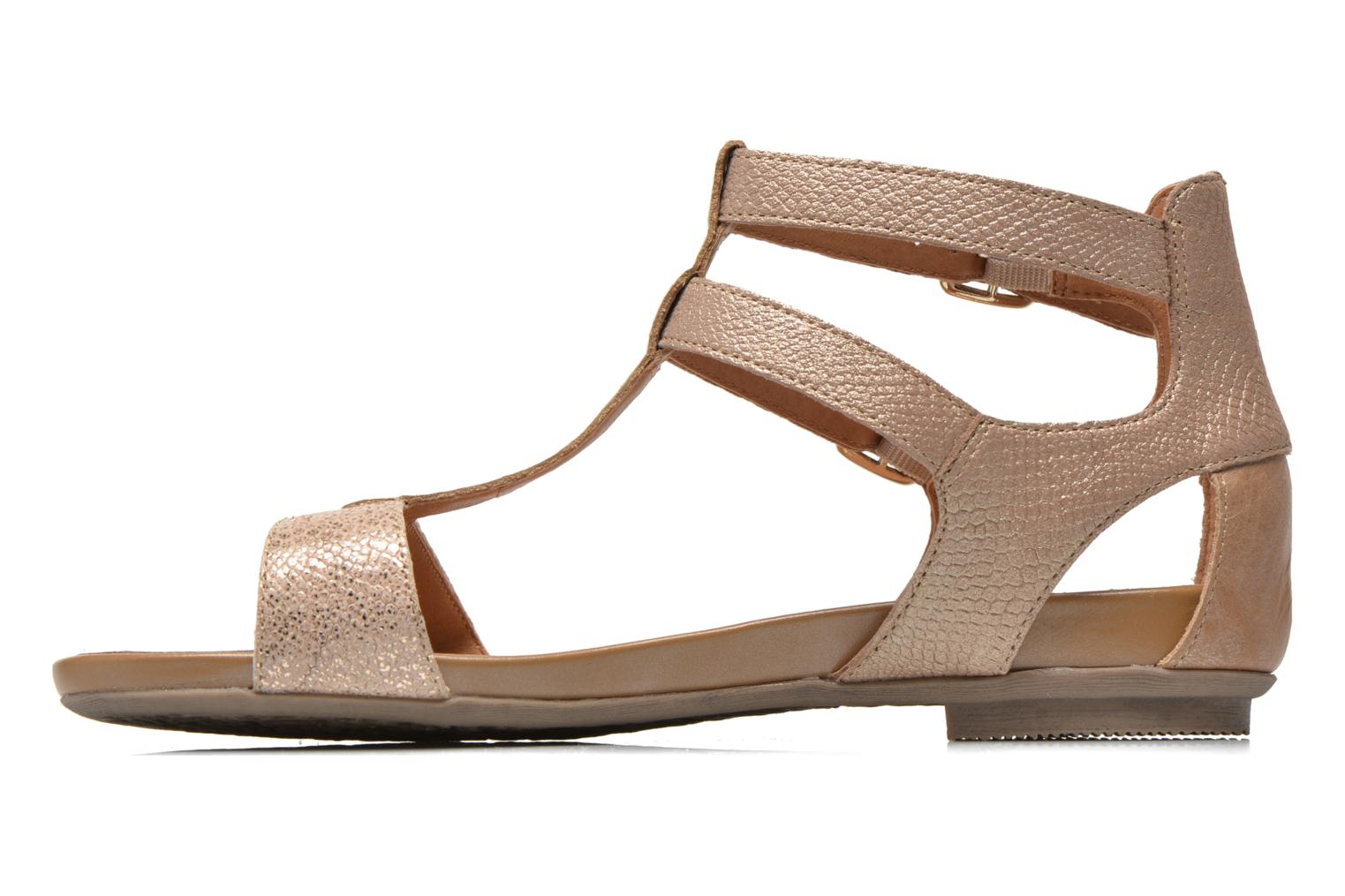 Sandals Karston Kozin Bronze and Gold front view